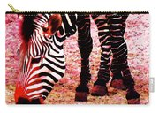 Colorful Zebra - Buy Black And White Stripes Art Carry-all Pouch