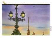 Colors Of Russia Bridge Light In Saint Petersburg Carry-all Pouch