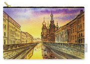 Colors Of Russia St Petersburg Cathedral I Carry-all Pouch by Irina Sztukowski