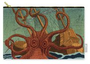 Colossal Octopus Attacking Ship 1801 Carry-all Pouch
