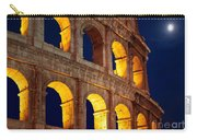 Colosseum And Moon Carry-all Pouch by Inge Johnsson