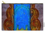 Colourful Doorway Art On Adobe House Carry-all Pouch