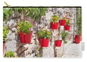 Colourful Flower Pots Carry-all Pouch