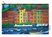 Colours Of Portofino Carry-all Pouch by Lisa  Lorenz
