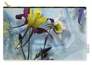 Columbine Blossom With Suminagashi Ink Carry-all Pouch