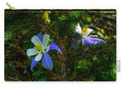 Columbine Flowers And Pine Tree Carry-all Pouch