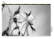 Columbines In Black And White Carry-all Pouch