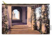 Columns And Flowers Carry-all Pouch by Terry Reynoldson