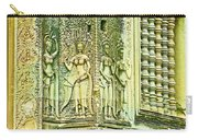 Columns And Hindu Devatas At Angkor Wat In Angkor Wat Archeological Park Near Siem Reap-cambodia Carry-all Pouch