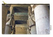 Columns In Temple Of Hathor Near Dendera In Qena-egypt Carry-all Pouch