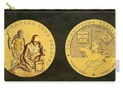 Comanche Nation Tribe Code Talkers Bronze Medal Art  Carry-all Pouch