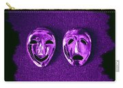 Comedy And Tragedy Masks 2 Carry-all Pouch