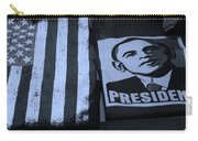 Commercialization Of The President Of The United States In Cyan Carry-all Pouch