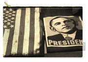 Commercialization Of The President Of The United States In Sepia Carry-all Pouch by Rob Hans