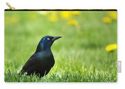 Common Grackle Carry-all Pouch by Christina Rollo