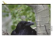 Common Raven Incubating Eggs In Nest Carry-all Pouch