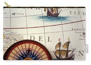 Compass And Old Map With Ships Carry-all Pouch