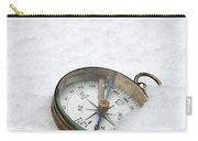 Compass In Snow Carry-all Pouch