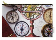Compasses And Globe Illustration Carry-all Pouch