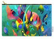 Composition In Blue And Green Carry-all Pouch