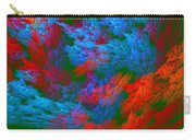 Computer Generated Abstract Red And Green Fractal Flame Carry-all Pouch
