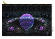 Computer Generated Blue Purple Abstract Fractal Flame Black Background Carry-all Pouch