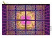 Computer Generated Fractal Squares Geometric Pattern Carry-all Pouch