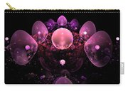 Computer Generated Pink Abstract Bubbles Fractal Flame Art Carry-all Pouch