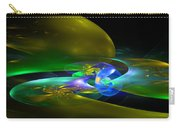 Computer Generated Planet Sphere Abstract Fractal Flame Modern Art Carry-all Pouch