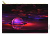 Computer Generated Sphere Red Abstract Fractal Flame Art Carry-all Pouch