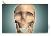 Conceptual Image Of Human Skull, Front Carry-all Pouch by Stocktrek Images