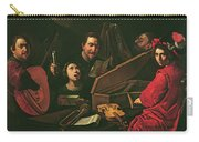 Concert With Musicians And Singers, C.1625 Oil On Canvas Carry-all Pouch