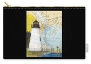 Concord Pt Lighthouse Md Nautical Chart Map Art Cathy Peek Carry-all Pouch