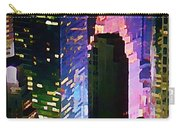 Concrete Canyons Of Manhattan At Night  Carry-all Pouch