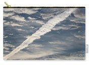 Condensation Trails - Contrails - Airplane Carry-all Pouch