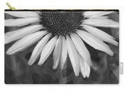 Coneflower And Dusty Miller Bw Carry-all Pouch