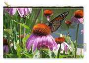Coneflower With Butterfly Carry-all Pouch