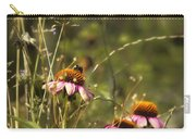 Coneflowers Weeds And Bee Carry-all Pouch
