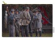 Confederate Civil War Reenactors With Rebel Confederate Flag Carry-all Pouch
