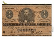 Confederate Dollar Bill Carry-all Pouch