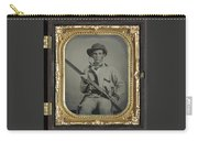 Confederate Soldier With Shotgun Carry-all Pouch