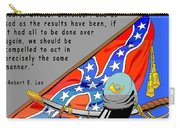 Confederate States Of America Robert E Lee Carry-all Pouch by Digital Creation