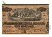 Confederate Ten Dollars Carry-all Pouch