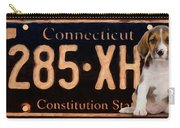 Connecticut License Plate Carry-all Pouch