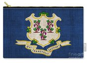Connecticut State Flag Carry-all Pouch by Pixel Chimp