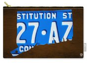 Connecticut State License Plate Map Carry-all Pouch