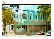 Connie's Pizza Psc Rue Charlevoix Near Grand Trunk Autumn Scene Pointe St Charles Art Carole Spandau Carry-all Pouch