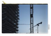 Construction Cranes In Backlit Carry-all Pouch