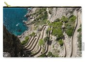 Contemplating Mediterranean Vacations - Via Krupp Capri Island Italy Carry-all Pouch
