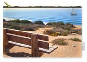 Contemplation Bench At The Oceans Edge Carry-all Pouch